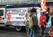 28. März: Attac-Block beim Start der Demo